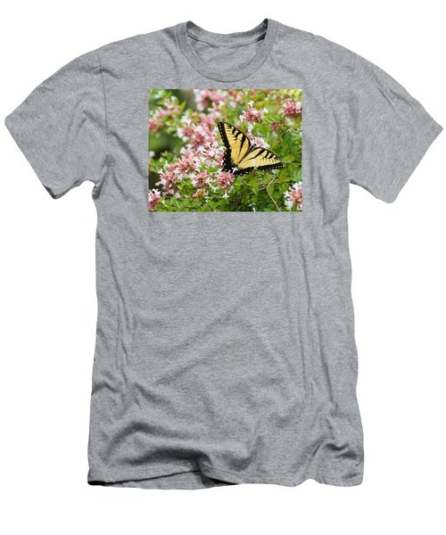 Men's T-Shirt (Athletic Fit) featuring the photograph Butterfly Haven by Julie Andel