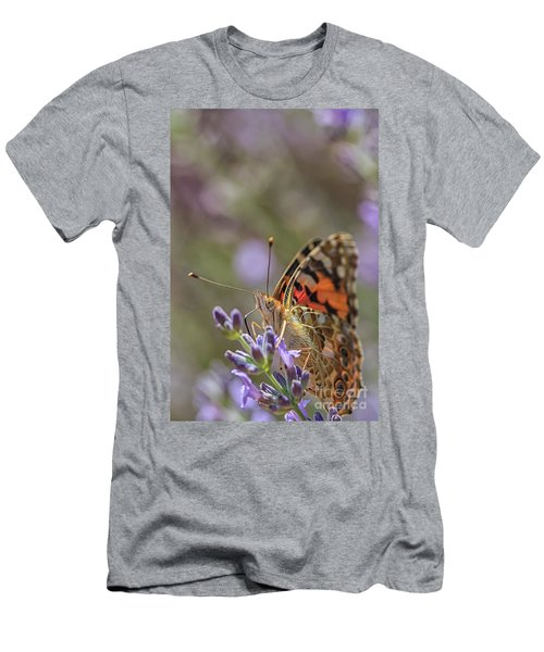 Men's T-Shirt (Slim Fit) featuring the photograph Butterfly In Close Up by Patricia Hofmeester