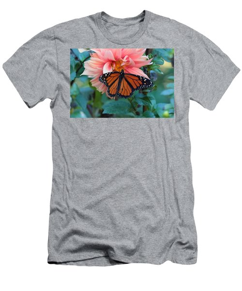 Butterfly On Dahlia Men's T-Shirt (Athletic Fit)