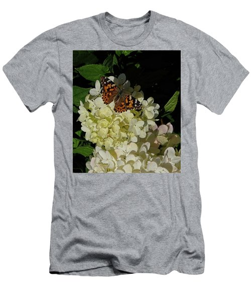 Butterfly On Hydrangea Men's T-Shirt (Athletic Fit)