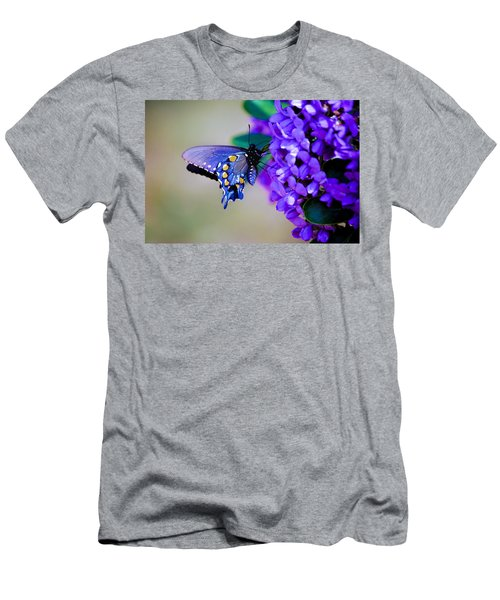 Butterfly On Mountain Laurel Men's T-Shirt (Athletic Fit)