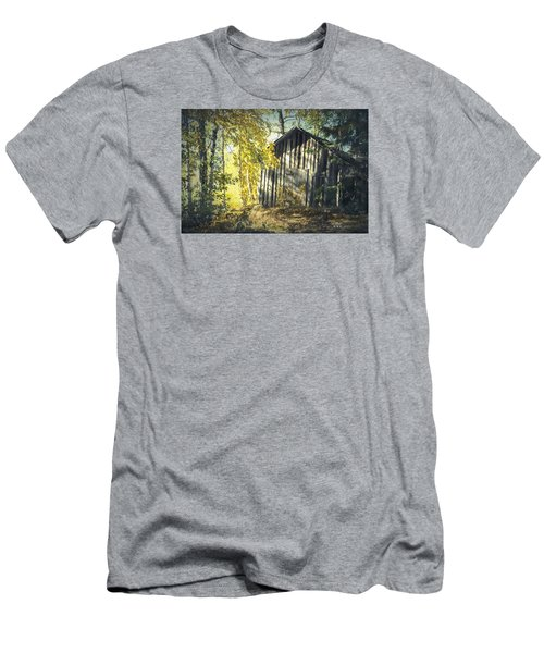 Men's T-Shirt (Slim Fit) featuring the painting By The Old Paths by Rose-Maries Pictures