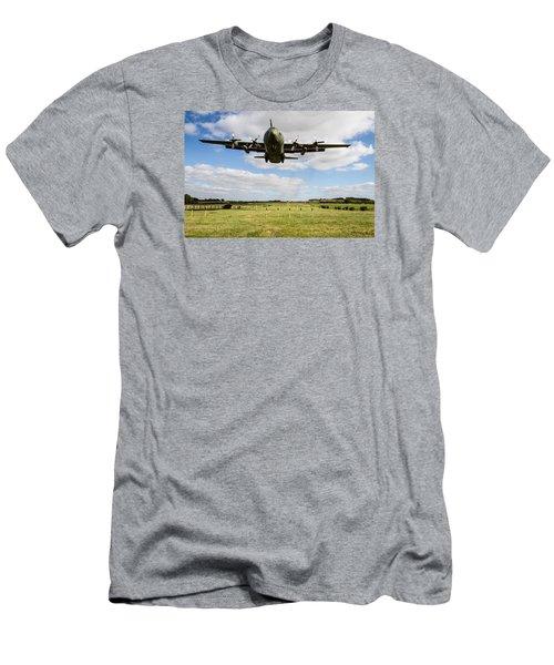 C130 Hercules Landing Men's T-Shirt (Slim Fit) by Ken Brannen