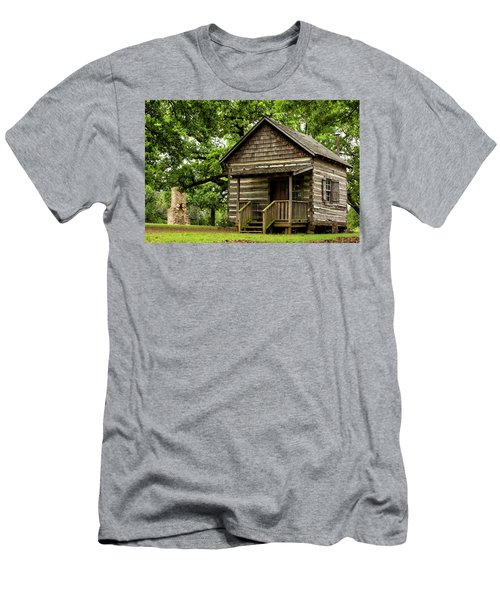 Cabin At Fort Washita Men's T-Shirt (Athletic Fit)