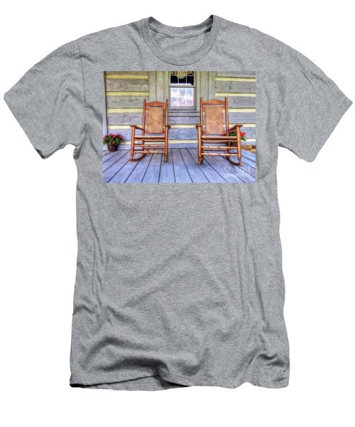Cabin Porch Men's T-Shirt (Slim Fit) by Marion Johnson