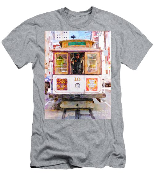 Cable Car No. 10 Men's T-Shirt (Athletic Fit)