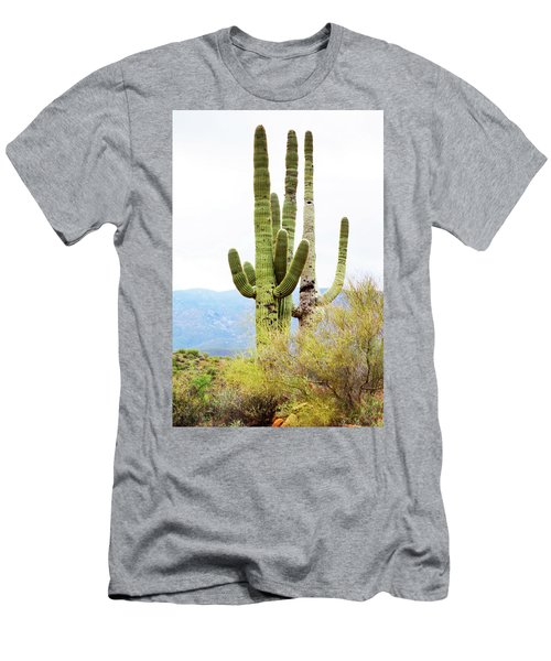 Cactus Men's T-Shirt (Slim Fit) by Angi Parks