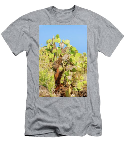 Cactus Trees In Galapagos Islands Men's T-Shirt (Slim Fit) by Marek Poplawski