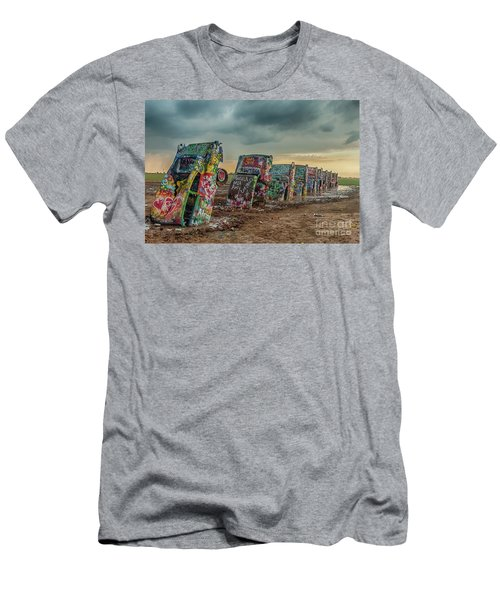 Cadillac Ranch Before The Rain Men's T-Shirt (Athletic Fit)