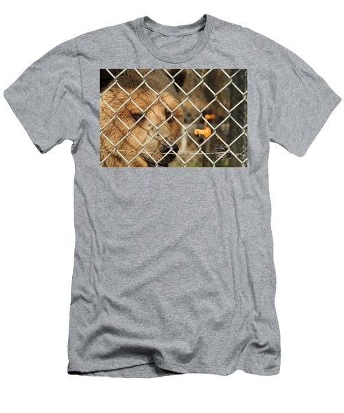 Caged Bear Men's T-Shirt (Athletic Fit)