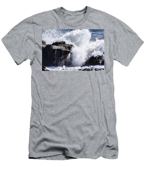 California Coast Wave Crash 6 Men's T-Shirt (Athletic Fit)