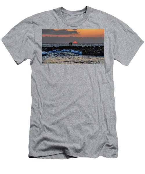 California Evening With Sandstone Effect Men's T-Shirt (Athletic Fit)