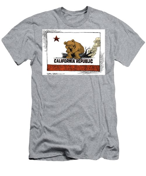 California Fire Bear Grieves Men's T-Shirt (Athletic Fit)