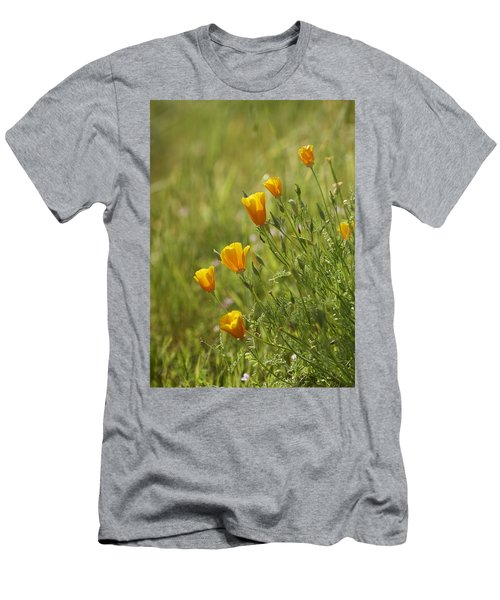 Men's T-Shirt (Slim Fit) featuring the photograph California Poppy by Doug Herr