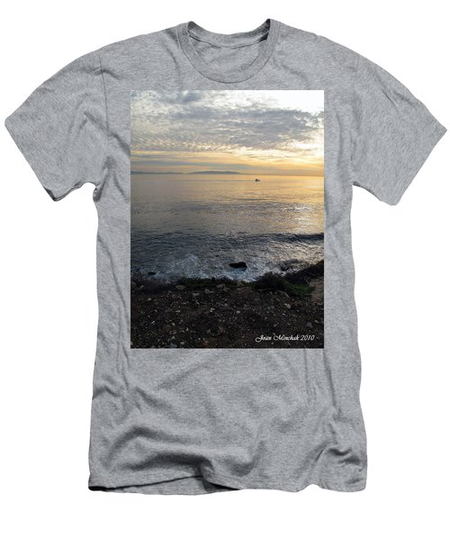 Men's T-Shirt (Slim Fit) featuring the photograph California Sunset by Joan  Minchak