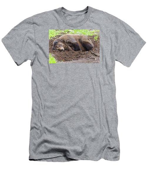 Call Later Men's T-Shirt (Slim Fit) by Harold Piskiel