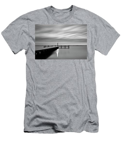 Calm Barnegat Bay New Jersey Black And White Men's T-Shirt (Athletic Fit)