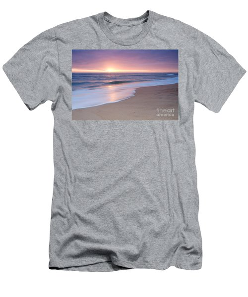 Calm Beach Waves During Sunset Men's T-Shirt (Athletic Fit)