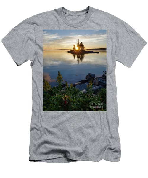 Calm Water At Sunset, Harpswell, Maine -99056-99058 Men's T-Shirt (Slim Fit) by John Bald