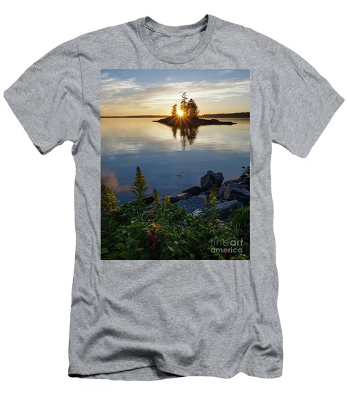 Calm Water At Sunset, Harpswell, Maine -99056-99058 Men's T-Shirt (Athletic Fit)