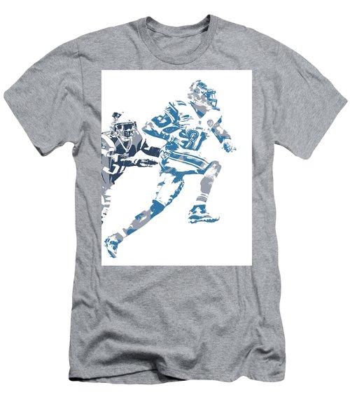Calvin Johnson Detroit Lions Pixel Art 20 Men's T-Shirt (Athletic Fit)