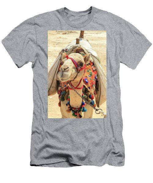 Men's T-Shirt (Athletic Fit) featuring the photograph Camel by Silvia Bruno