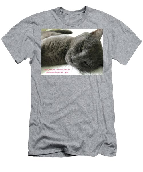 Men's T-Shirt (Athletic Fit) featuring the photograph Resting Face by Debbie Cundy