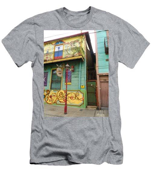 Caminito La Boca Men's T-Shirt (Slim Fit) by Silvia Bruno