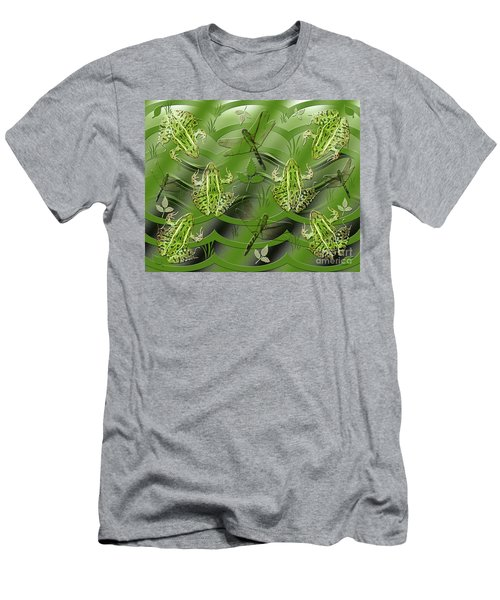 Camo Frog Dragonfly Men's T-Shirt (Athletic Fit)