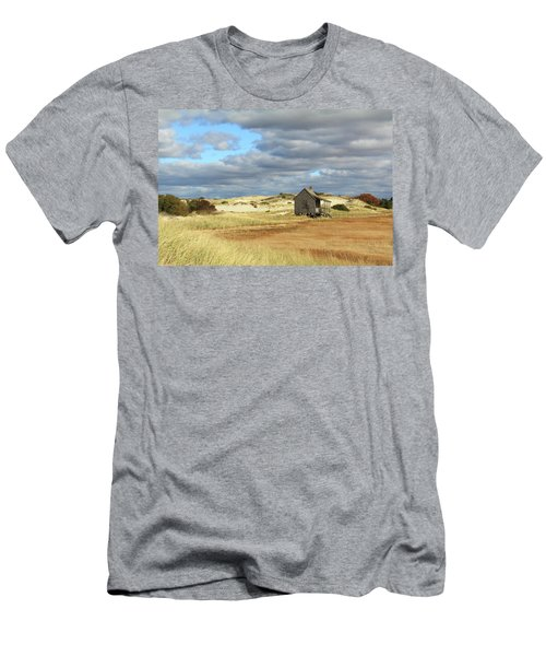 Men's T-Shirt (Slim Fit) featuring the photograph Camp On The Marsh And Dunes by Roupen  Baker