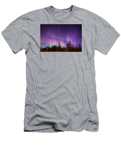 Canadian Northern Lights Men's T-Shirt (Slim Fit) by Serge Skiba