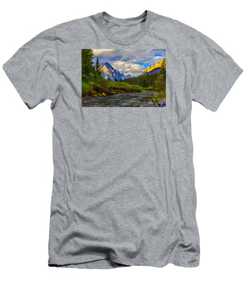 Canadian Rocky Mountains Men's T-Shirt (Slim Fit) by John Roberts