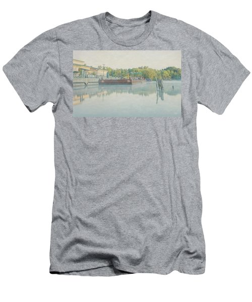 Men's T-Shirt (Slim Fit) featuring the photograph Canal In Pastels by Everet Regal