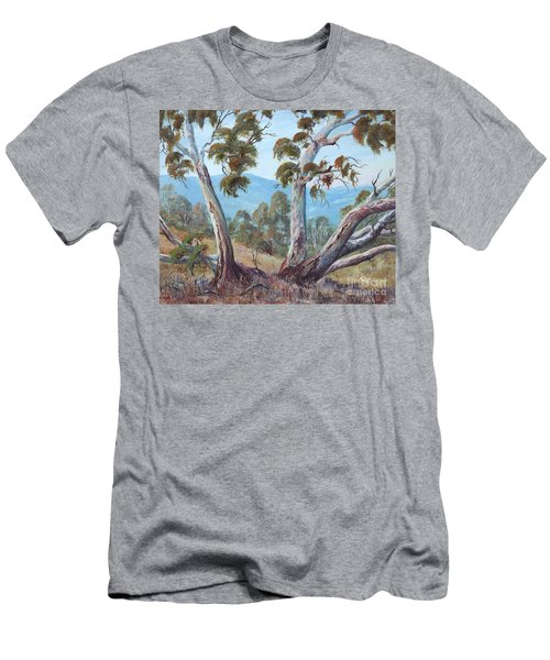Men's T-Shirt (Athletic Fit) featuring the painting Canberra Hills by Ryn Shell