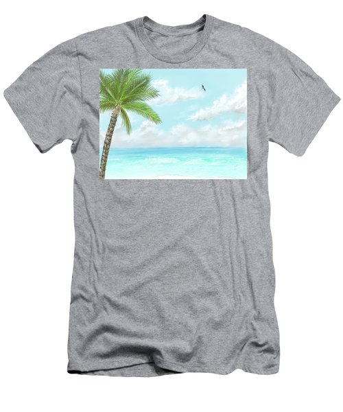 Men's T-Shirt (Athletic Fit) featuring the digital art Cancun At Christmas by Darren Cannell