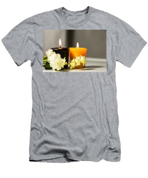 Candle Men's T-Shirt (Slim Fit) by Hyuntae Kim