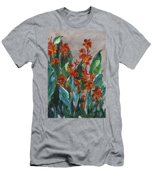Men's T-Shirt (Athletic Fit) featuring the painting Cannas by Jamie Frier