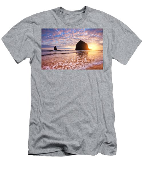 Cannon Beach Sunset Classic Men's T-Shirt (Athletic Fit)