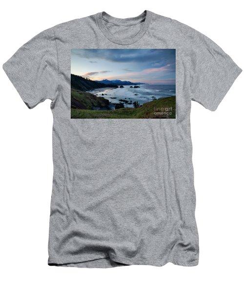 Cannon Beach View Men's T-Shirt (Athletic Fit)