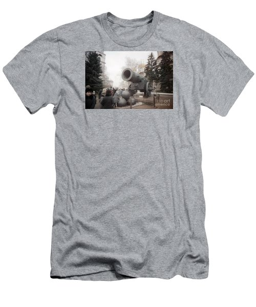 cannon in Moscow Men's T-Shirt (Slim Fit) by Ted Pollard