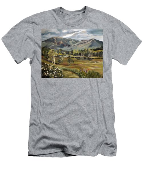 Cannon Mountain From Sugar Hill New Hampshire Men's T-Shirt (Athletic Fit)