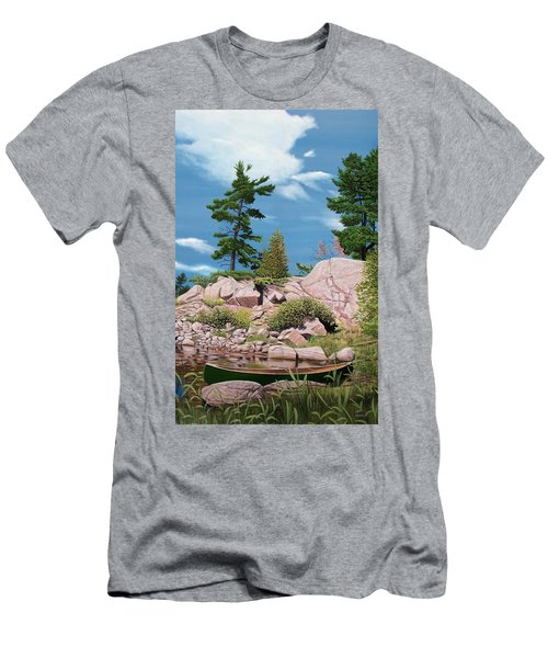 Canoe Among The Rocks Men's T-Shirt (Athletic Fit)