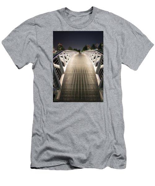 Canoe Bridge  Men's T-Shirt (Athletic Fit)