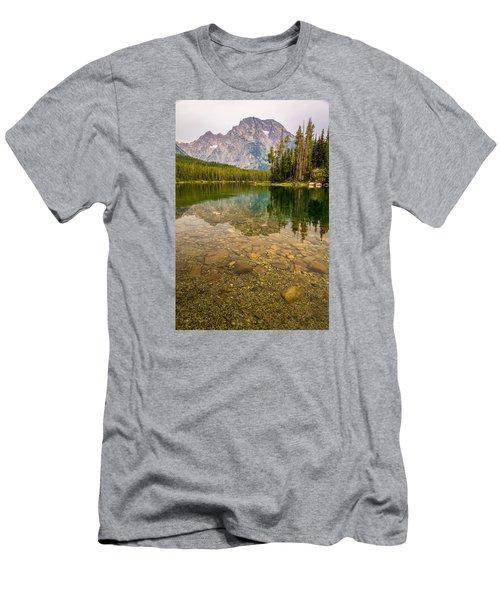 Canoe Camping In The Teton Range Men's T-Shirt (Slim Fit) by Serge Skiba