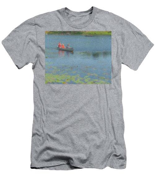 Canoes On Shovelshop Pond Men's T-Shirt (Athletic Fit)