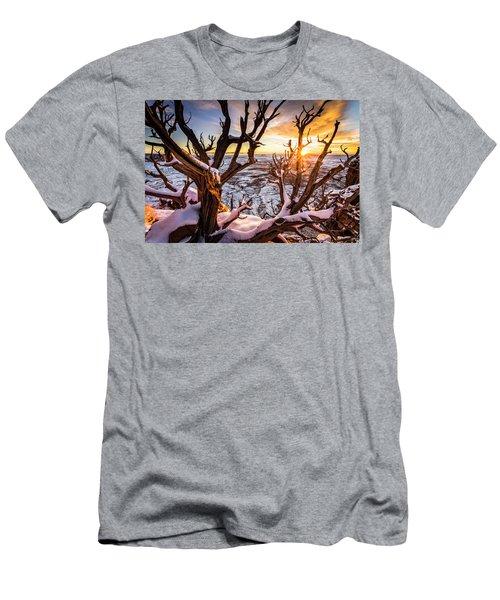 Canyonlands Winter Sunset Men's T-Shirt (Athletic Fit)