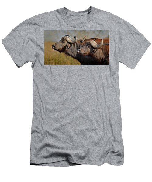 Cape Buffalo And Their Housekeeper Men's T-Shirt (Athletic Fit)