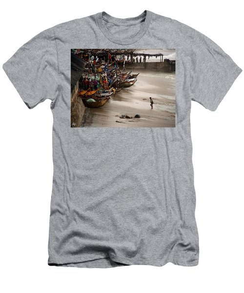 Men's T-Shirt (Athletic Fit) featuring the photograph Cape Coast Storm by Wayne King