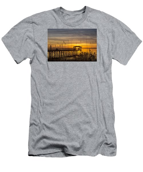 Cape Fear Sunset Fort Fisher Men's T-Shirt (Slim Fit) by Phil Mancuso