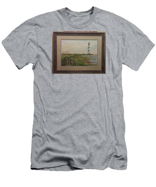 Cape Hatteras Light House Men's T-Shirt (Athletic Fit)
